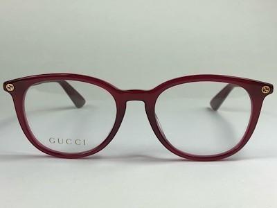 Gucci - GG 0155OA - Vermelho  - 007 - 49/18 - Armação para Grau