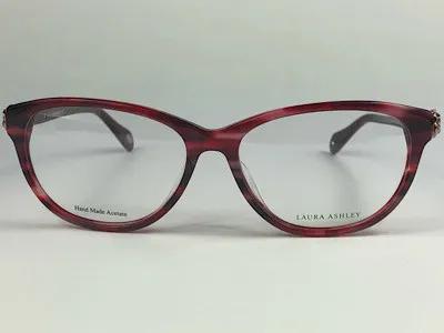 Laura Ashley  - LA-3-130 - Vermelho - 02 - 54/16 - Armação para Grau