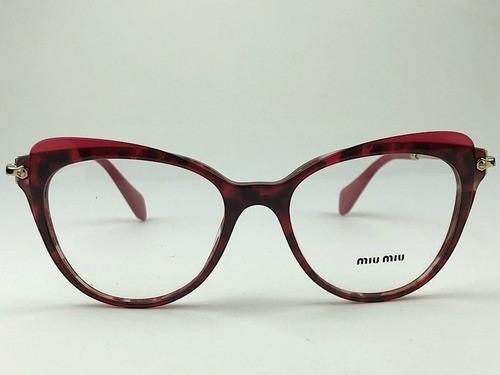 MiuMiu - VMU 01Q - Vermelho - 110-1O1 - 63/16 - Armação para Grau