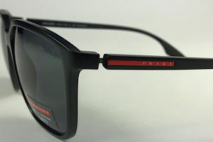 Prada Linea Rossa - SPS 06V - Preto - 1BO-5Z1 - 58/16 - Óculos de Sol