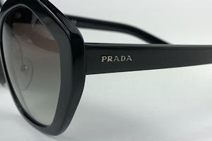 Prada - SPR 08X - Preto - 1AB-0A7 - 55/19 - Óculos de Sol