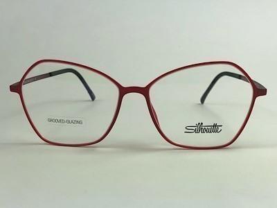 Silhouette - SPX 1591 75 - Vermelho - 3040 - 55/15 - Armação para Grau