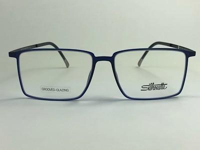 Silhouette - SPX 2919 75 - Azul - 4640 - 53/15 - Armação para Grau