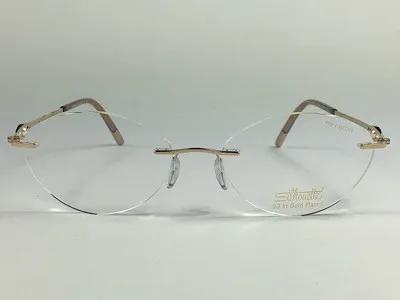 Silhouette - SPX 4259 20 - Dourado - 6051 - 54/17 - Armação para Grau