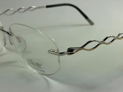 Silhouette - SPX 4457 80 - Prata - 6052 - 53/17 - Armação para Grau