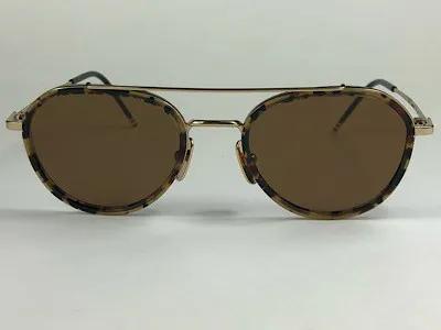 Thom Browne - TB TB-801 - Havana - H-GLD-TKT - 51/20 - Óculos de Sol