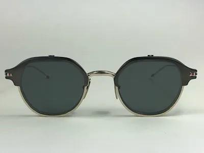 Thom Browne - TB TBS812 - Prata - 02-SLV-GLD - 46/22 - Óculos de Sol