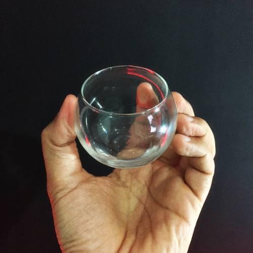 Kit 25 Mini Vasos Castiçal Aquário De Vidro 100ml Decoração