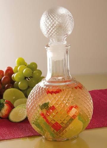 Kit 3 Garrafas Em Vidro Retrô P/ Licor E Whisky Decoração