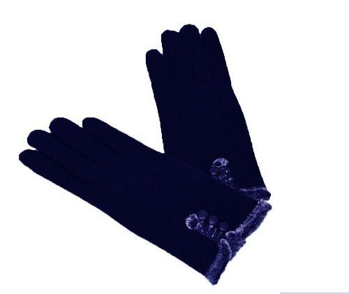 Luva Feminina De Frio Inverno Touchscreen Azul Ski