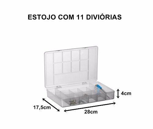 Caixa Organizadora Multiuso 11 Divisórias Plástico Bijuteria