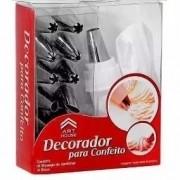 Saco Decorador Confeiteiro Bolos Profissional 12 Bicos Inox