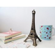 Mini Torre Eiffel Paris 13cm Enfeite Decor Metal Bronze