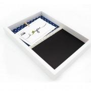 Quadro Porta Retrato Fotografia Com Lousa Quadro Negro