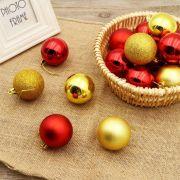Bolas De Natal Enfeite P Árvore Pendente 7cm 12 Pç