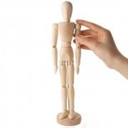 Boneco De Madeira Articulado Manequim Desenho Moda Arte 30cm
