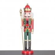 Bonecos Soldado Quebra Nozes Decoração De Natal Rei 39cm