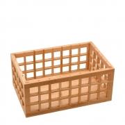 Caixa Organizadora Vazada Multiuso Em Bambu 26Cm