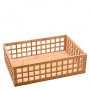 Caixa Organizadora Vazada Multiuso Em Bambu 38Cm