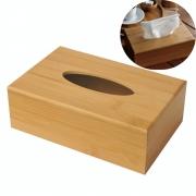 Caixa Porta Lenços De Papel Retangular Em Bambu