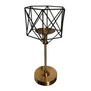 Castiçal Candelabro Porta Velas De Metal Hexagonal