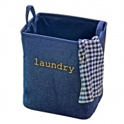Cesto De Roupa Laundry Dobrável Impermeável Tecido