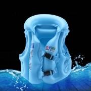 Colete Salva Vidas Infantil Inflável Criança Até 5 Anos Azul