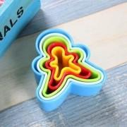 Cortador Colorido Boneco Para Biscoito Páscoa Pasta