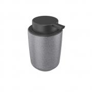 Dispenser Porta Sabonete Líquido De Cerâmica Cinza 200Ml