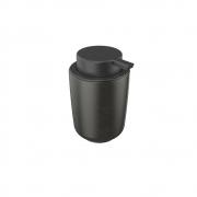 Dispenser Porta Sabonete Líquido De Cerâmica Preto 200Ml