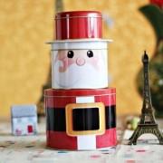 Enfeite Decoração Presente De Natal Lata Papai Noel