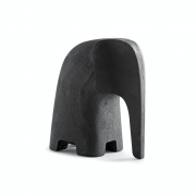 Escultura Decorativa Elefante De Poliresina Amadeirado 12Cm