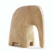 Escultura Decorativa Elefante Em Poliresina Amadeirado 18Cm