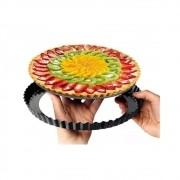 Forma Para Torta Metal Antiaderente Com Fundo Removível 22cm