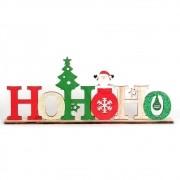 Frase Hohoho Enfeite De Madeira Decorativo Natal Colorido