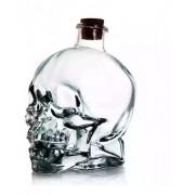 Garrafa Decorativa Caveira De Vidro Whisky Vodka 400Ml