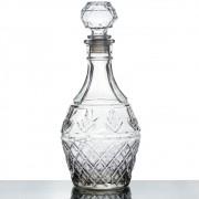 Garrafa Decorativa De Vidro Whisky Com Tampa Vintage 1 Litro