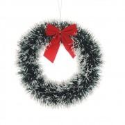 Guirlanda De Natal Festão 33cm Nevado Enfeite Decoração