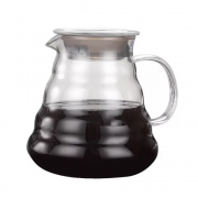 Jarra Para Servir Café Vidro Borossilicato Com Tampa 600Ml