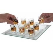Jogo Da Velha Drinks Com 09 Shots Tabuleiro De Vidro