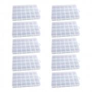 Kit 10 Caixa Organizadora Multiuso Com 24 Divisórias