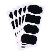 kit 12 Etiqueta Adesivas Quadro Negro Lousa Tempero 8,5x4,5cm