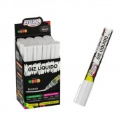 Kit 12 Giz Líquido Para Etiqueta Quadro Negro Branco 6mm