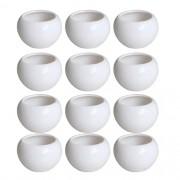 Kit 12 Mini Vaso Aquário Redondo De Cerâmica Decoração 70ml