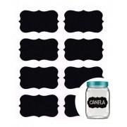Kit 16 Etiquetas Adesiva Quadro Negro Para Potes De Tempero