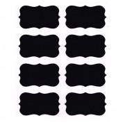 Kit 20 Etiquetas Adesiva Quadro Negro Para Potes De Tempero