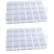 Kit 2 Caixa Organizadora Multiuso Com 24 Divisórias