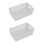Kit 2 Cesto Organizador De Plástico Para Cozinha Com Alça