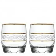Kit 2 Copos Adora Sultan De Vidro Bodas De Ouro Whisky 290ml