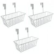 Kit 3 Cesto Organizador Aramado Para Porta Ou Armário